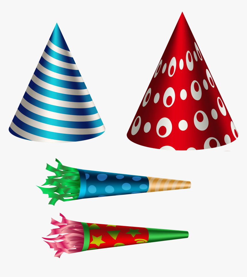 Party Set Transparent Png - Creative Birthday Party Hats, Png Download, Free Download