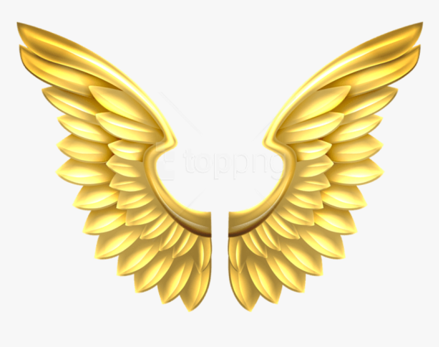 Free Png Download Gold Wings Transparent Clipart Png - Gold Angel Wings Png, Png Download, Free Download