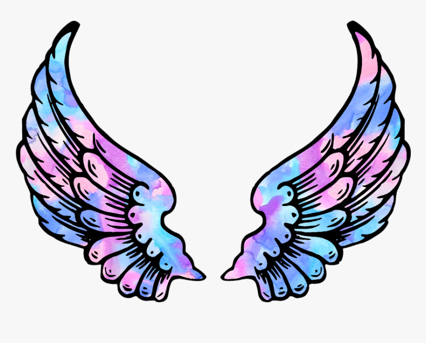 #wings #angel #angelwings #space #galaxy #stars #star - Angel Wings Clipart Png, Transparent Png, Free Download