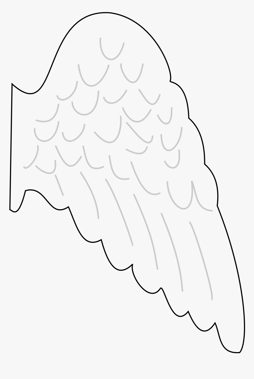 Angel Wing Drawing Clip Art Angel Wing Template Printable Free Hd Png Download Kindpng