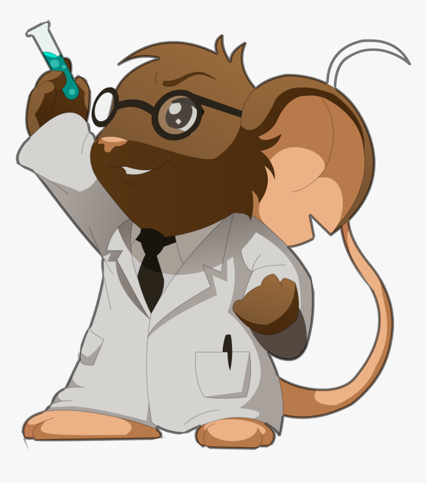 Download Scientist Free Png Image - Scientist Mouse Cartoon, Transparent Png, Free Download