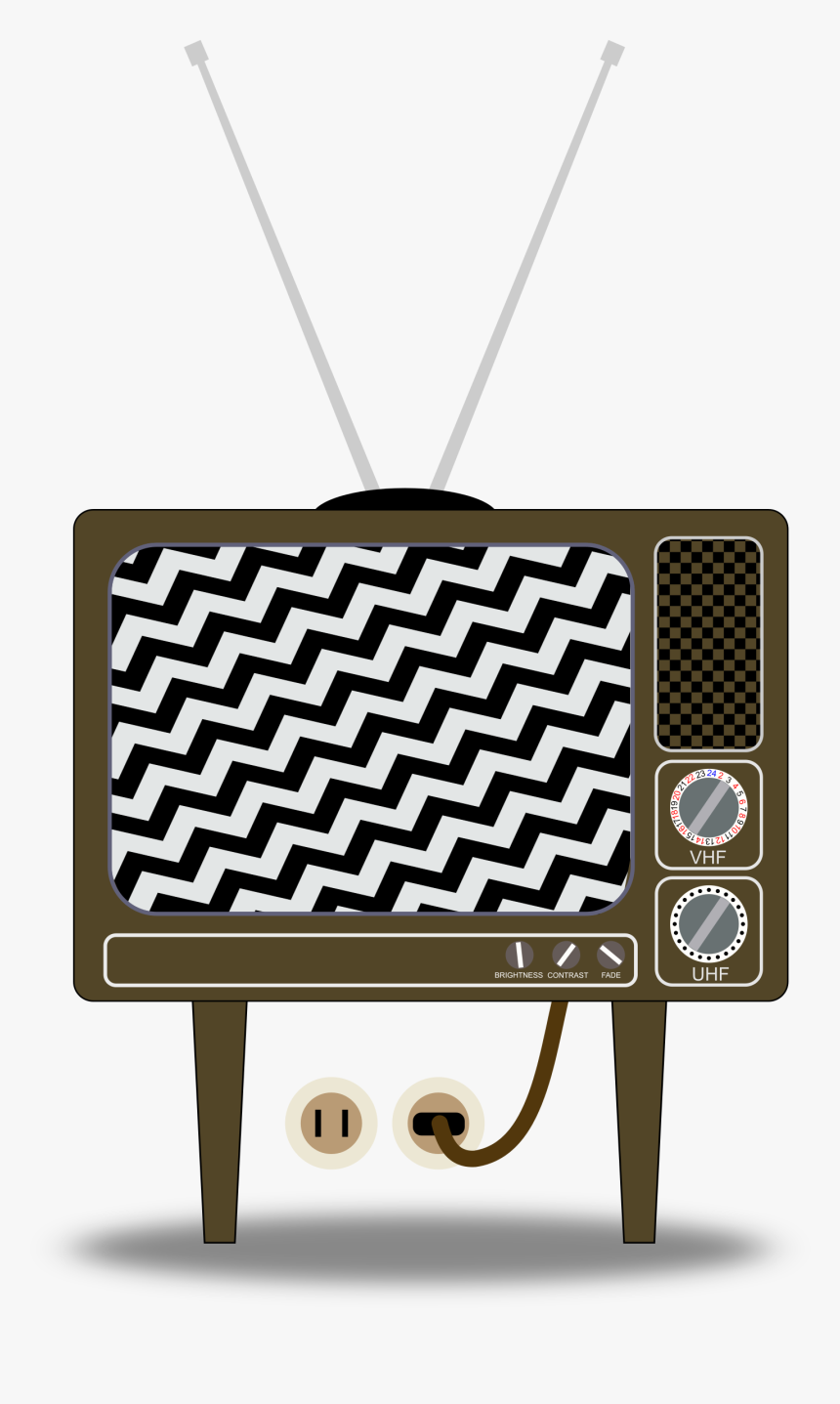 Static On Tv - Old Fashioned Tv Cartoon, HD Png Download, Free Download