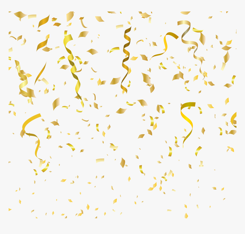Gold Confetti Png Party - Gold Confetti Background Png, Transparent Png, Free Download