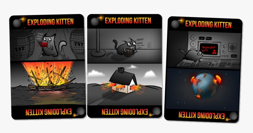 Exploding Kitten Card Exploding Kittens Hd Png Download Kindpng