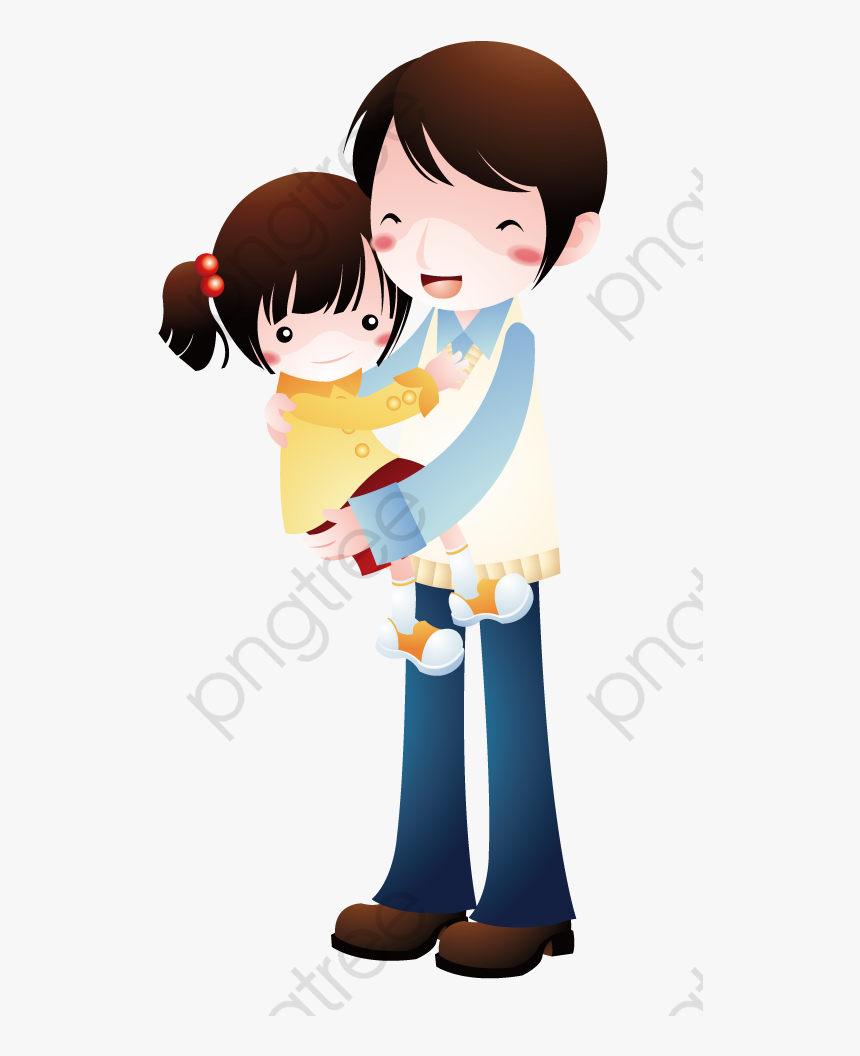 Brother Hugging Sister Sister Clipart Hug - Brother Sister Cartoon Painting, HD Png Download, Free Download