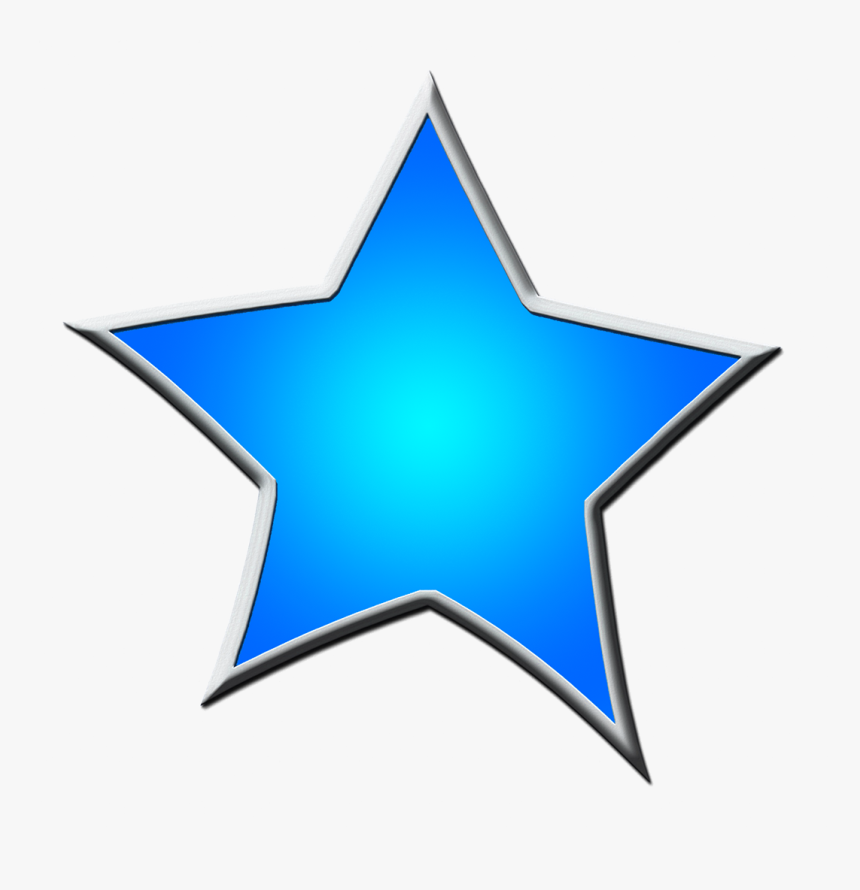 Star Clipart Blue - Star Drawing Blue, HD Png Download, Free Download