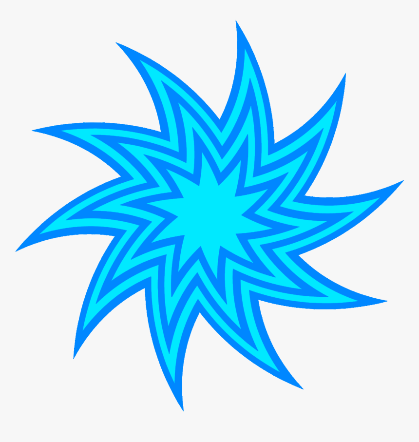 Red Swirl Star Clipart, Blue Star Swirl Drawing - Free Drawing Of Stars, HD Png Download, Free Download