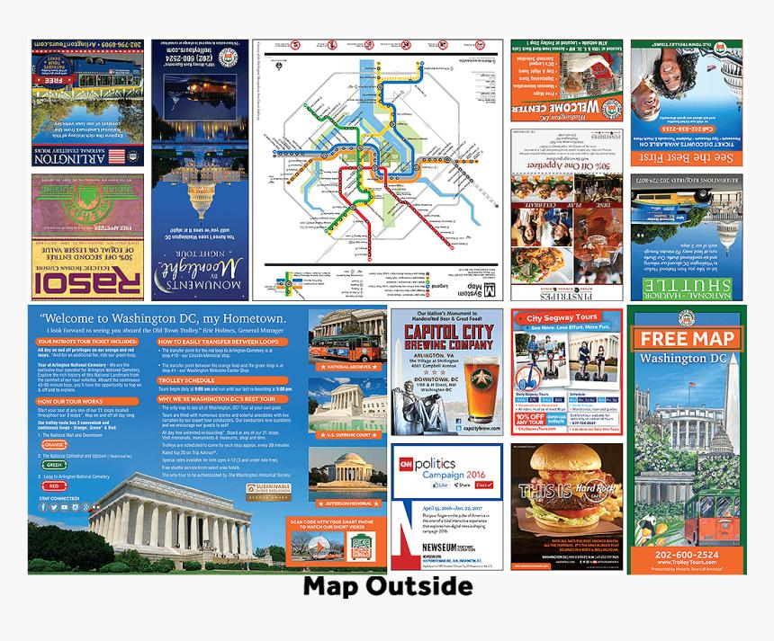 Washington Dc Free Map Brochure Outside - Tour Brochure For Washington Dc, HD Png Download, Free Download