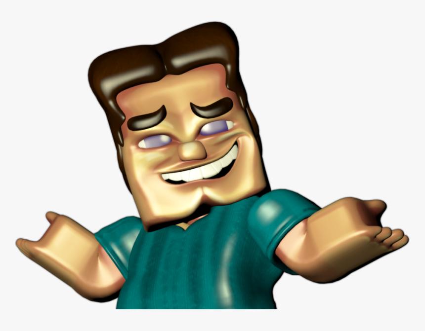 Cartoon Finger Minecraft Steve Hd Png Download Kindpng