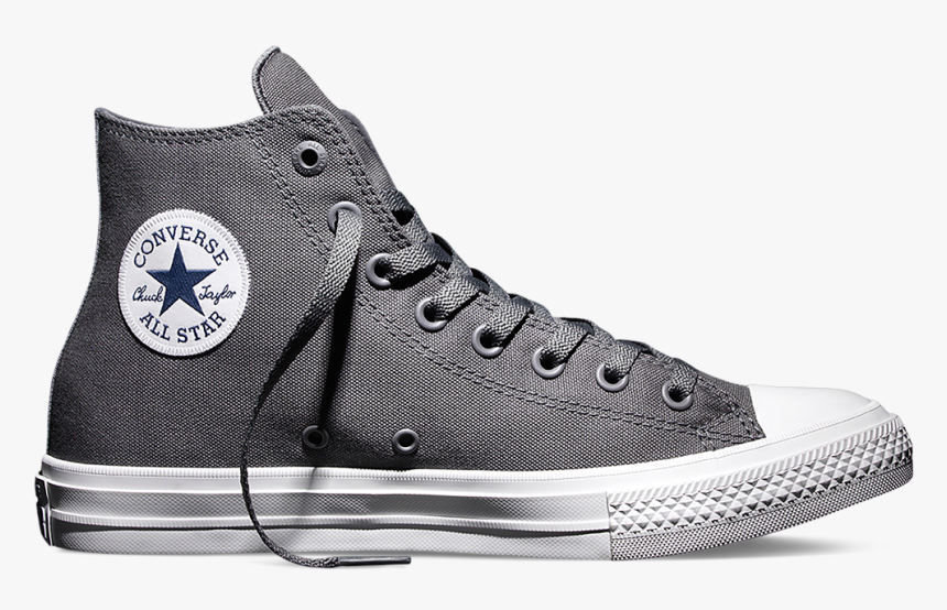 All Star Converse Chuck Taylors Grey , Png Download - Converse Chuck Taylor Ii Hi Grey, Transparent Png, Free Download