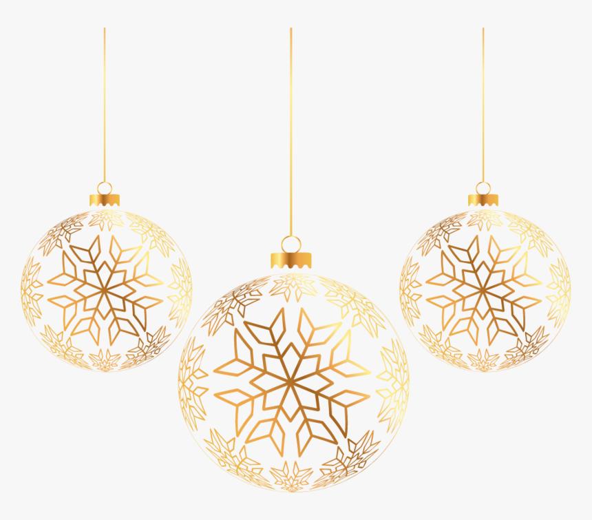 Golden Balls Ornament Tree Three Christmas - Gold Christmas Ornament Png, Transparent Png, Free Download