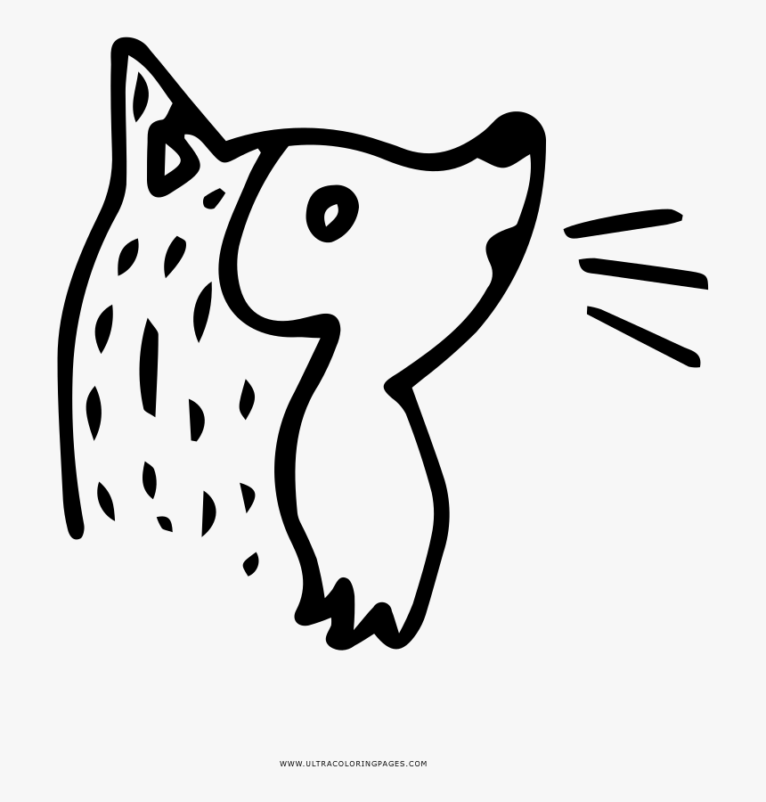 Transparent Wolf Howling Png - Dibujo De Un Coyote Para Colorear, Png Download, Free Download