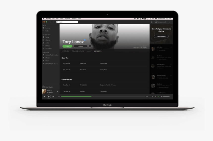 Spotify Added A 'concerts' Tab To Artist Pages So You - Concert, HD Png Download, Free Download