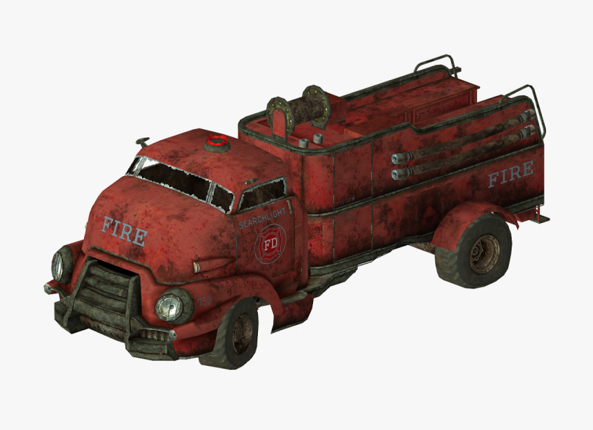Fallout Fire Truck, HD Png Download, Free Download