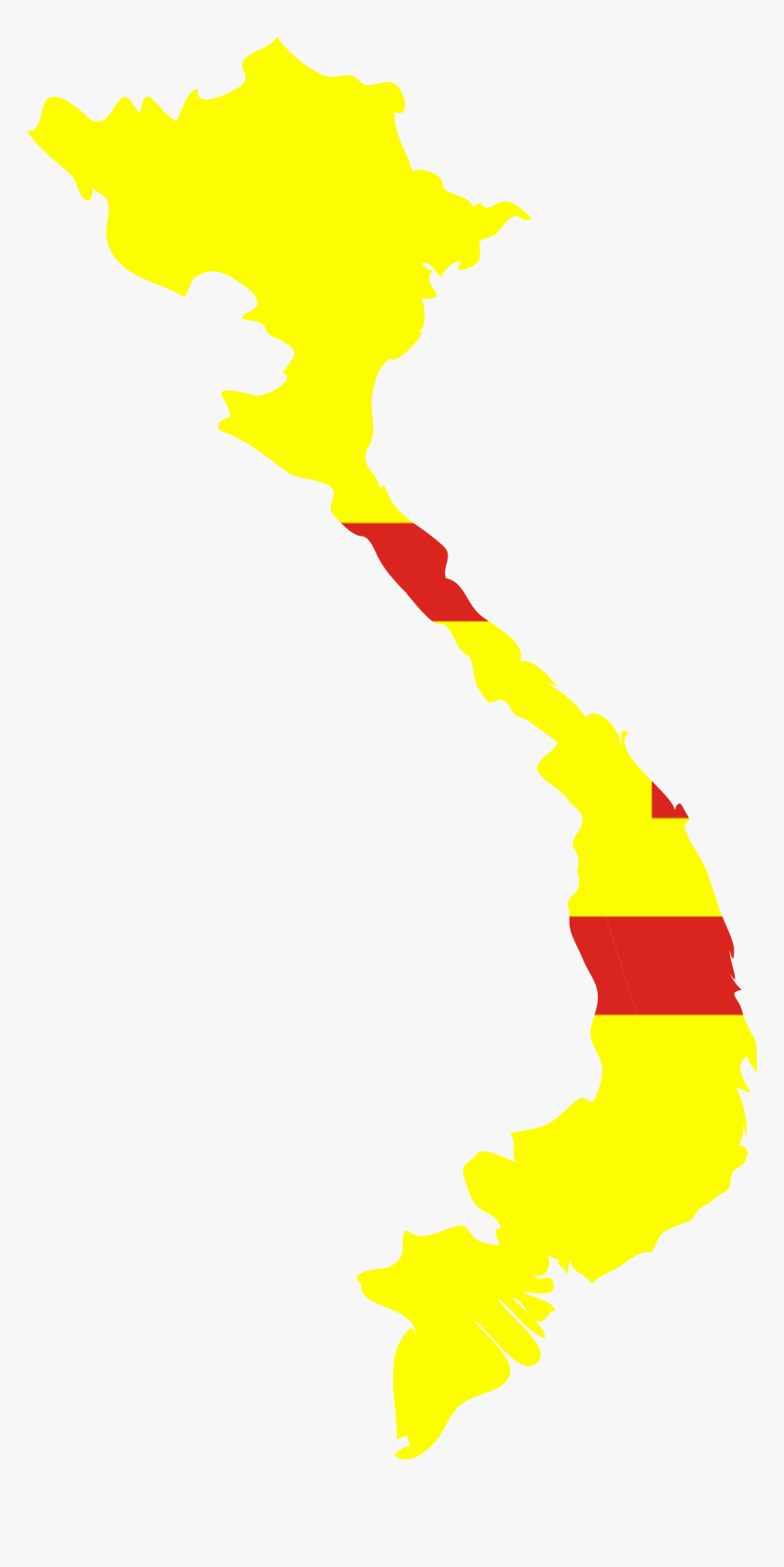 Flag Map Of The Empire Of Vietnam Vietnam Map Outline Png Transparent Png Kindpng