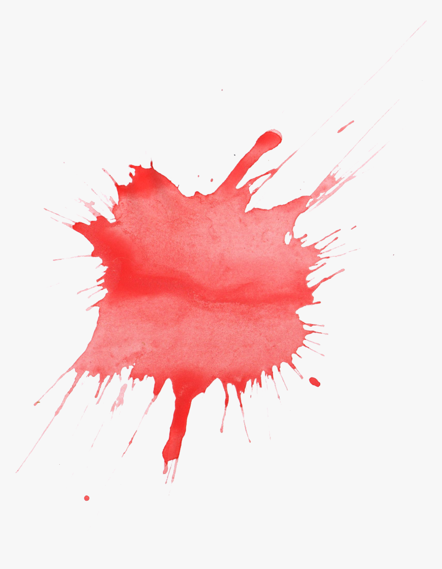Red Watercolor Painting - Red Paint Splotch Png, Transparent Png, Free Download