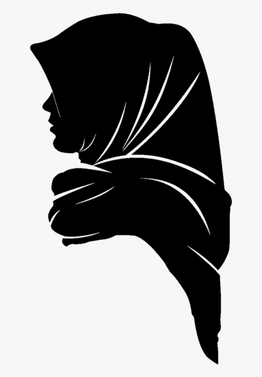 #muslim Girl Png - Gambar Siluet Wanita Berhijab, Transparent Png, Free Download