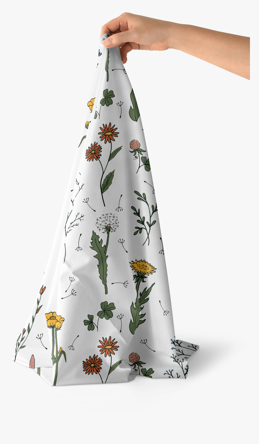 Wildflower Surprise Cotton Poplin Fabric For Project - Towel, HD Png Download, Free Download