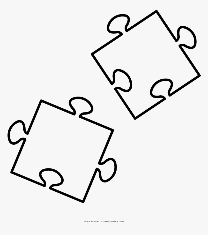 Puzzle Pieces Coloring Page - Puzzle Disegno Da Colorare, HD Png Download, Free Download