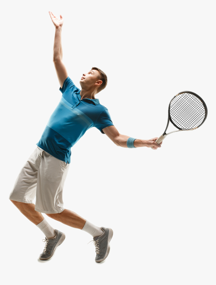 Tennis Player Serving Tennis Player Hd Png Download Kindpng