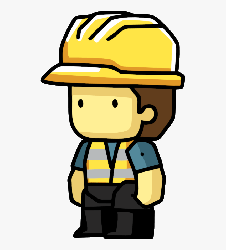 Scribblenauts Construction Worker - Construction Worker Clipart Png, Transparent Png, Free Download
