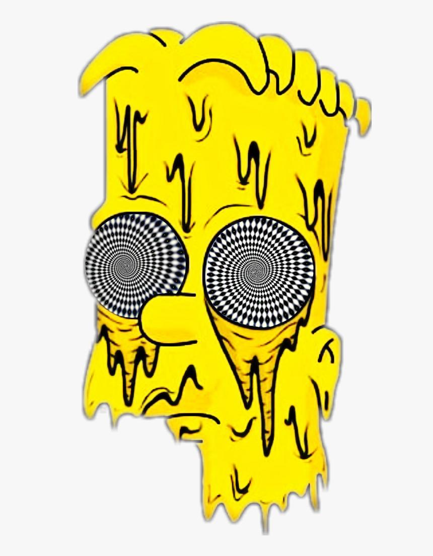 Bart Bartsimpson Simpsons Illusion Spiral Opticalillusi - Bart Simpson Drawing, HD Png Download, Free Download