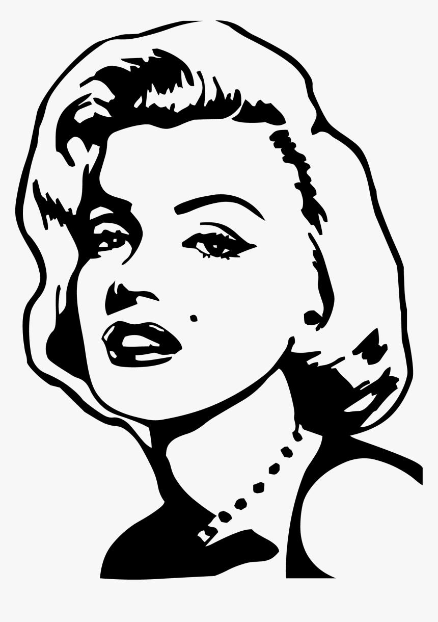 Pop Art Drawing Painting Easy Marilyn Monroe Drawing Hd Png Download Kindpng