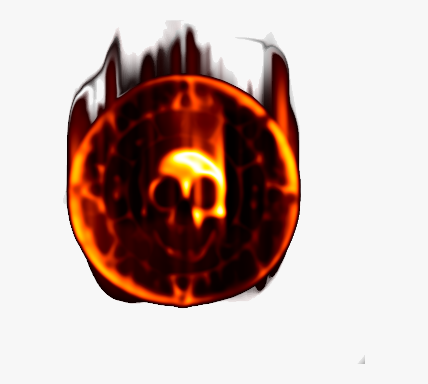 Pirate Coin In Flames 4b - Flame, HD Png Download, Free Download