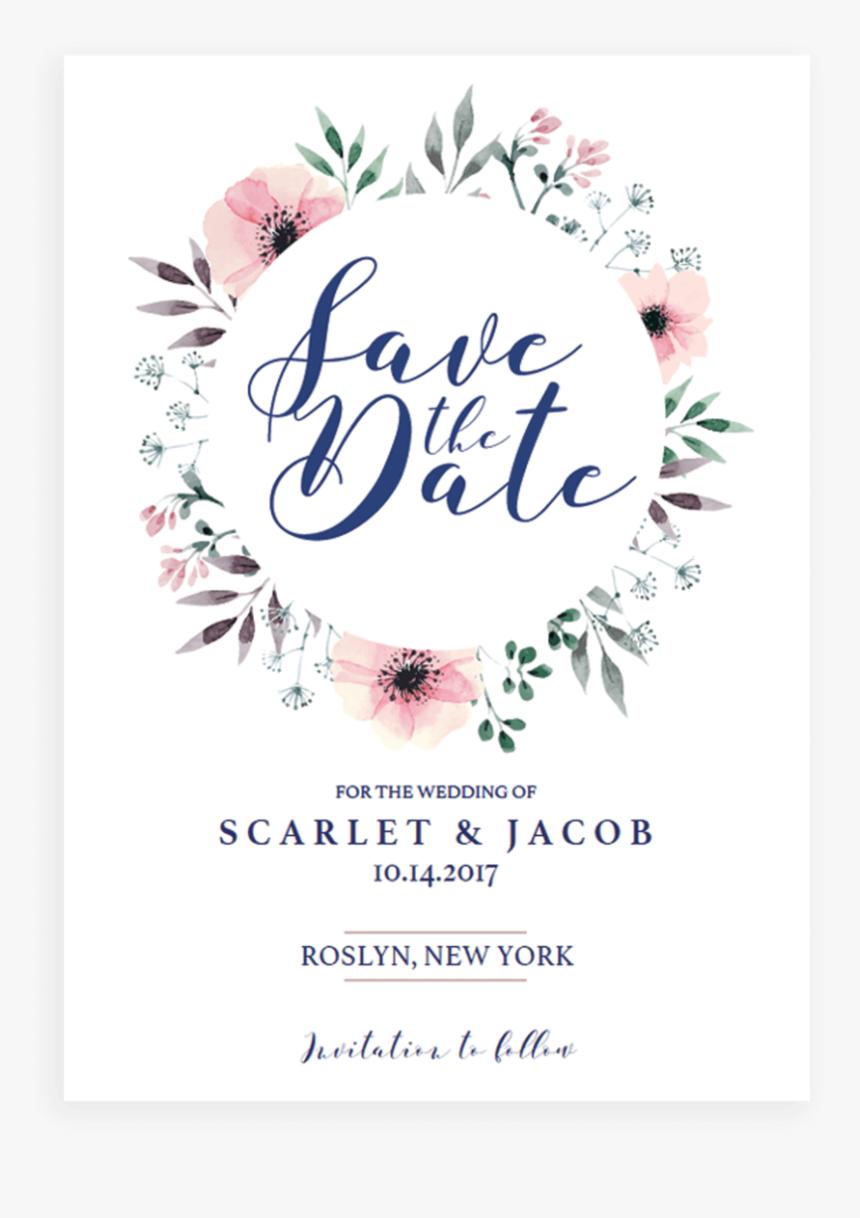 Wedding Invitation Template Green Hd Png Download Kindpng