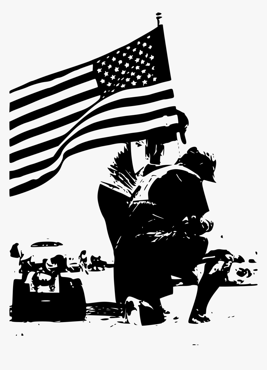 Memorial Day Flag Poster - Flag Memorial Day Clipart, HD Png Download, Free Download