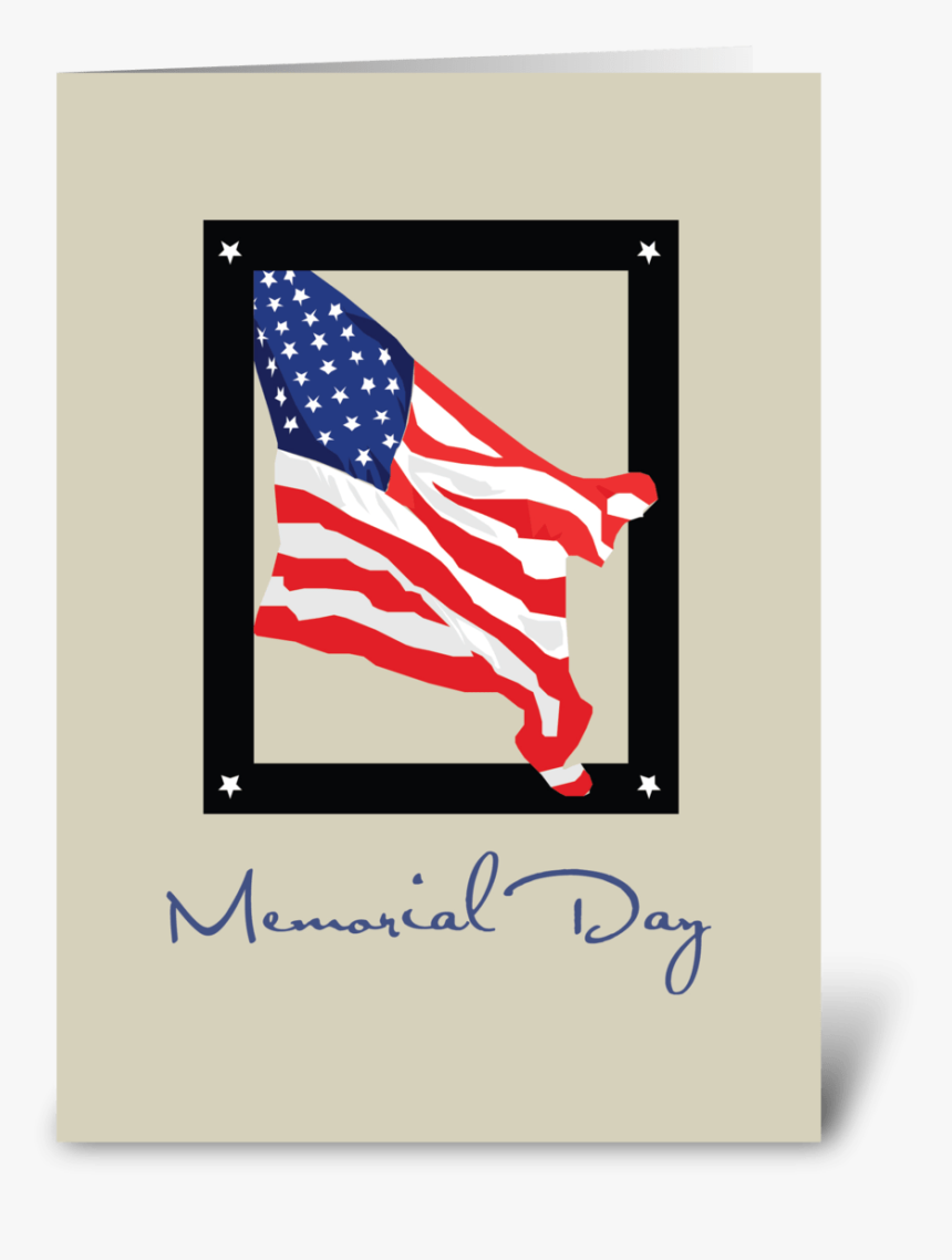 Happy Memorial Day, American Flag, Tan Greeting Card - Labor Day Thank You, HD Png Download, Free Download