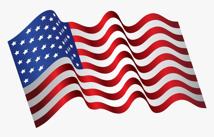 Waving American Flag Png - American Flag Waving Transparent, Png Download, Free Download