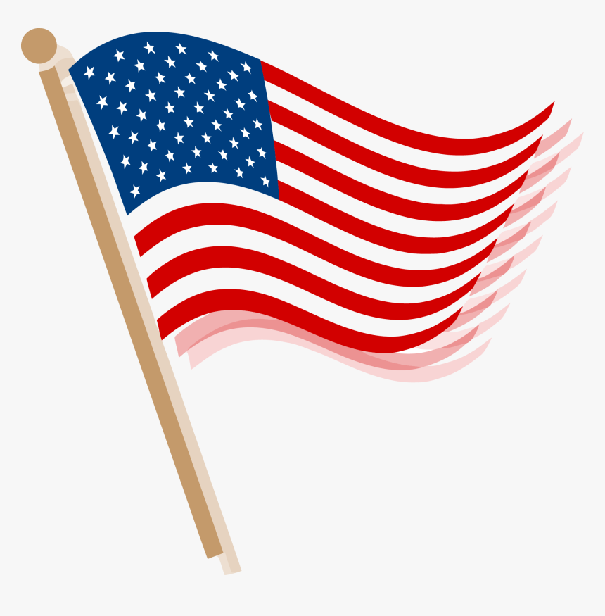 Usa Flag Clip Art Png Picture Library Library - American Flag Clip Art Png, Transparent Png, Free Download