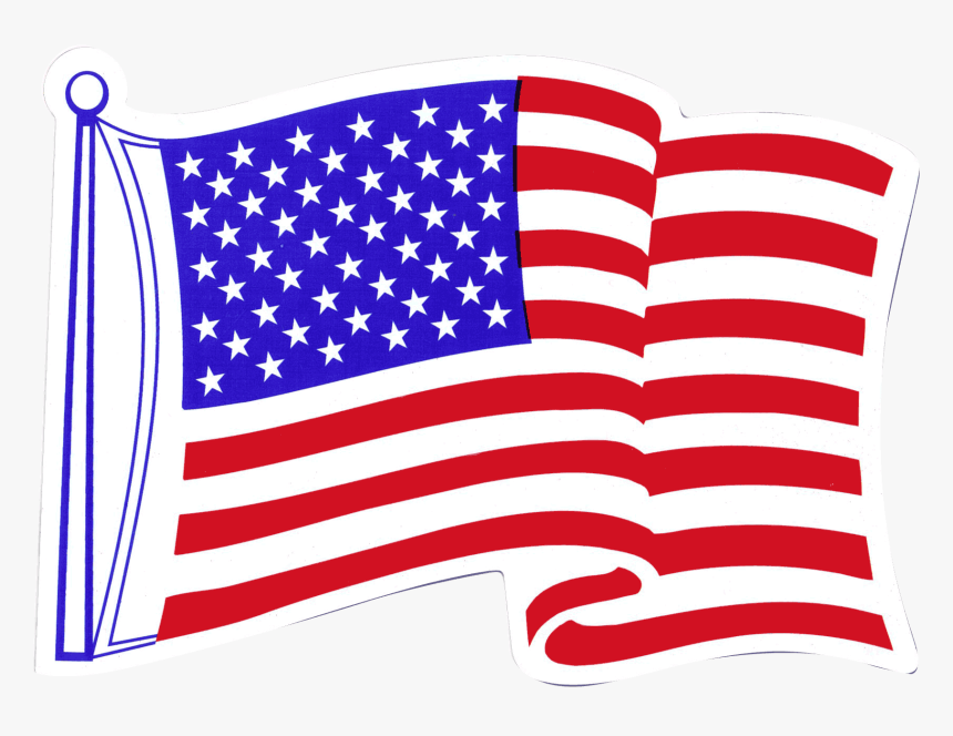 American Flag Fridge Magnet - American Flag Waving, HD Png Download, Free Download