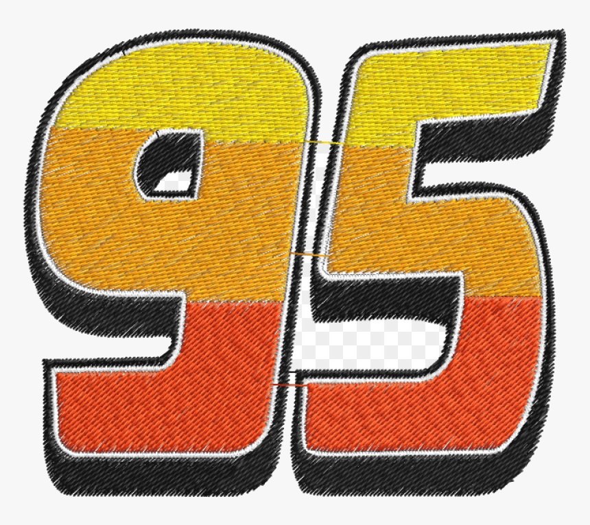 Lightning Mcqueen 95 Number Symbol Embroidery Cars Cars