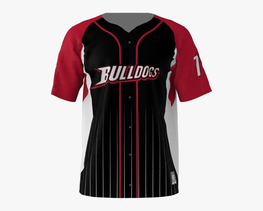 Bulldogs Custom Dye Sublimated Full Button Baseball - Custom Baseball Jersey Fully Sublimated, HD Png Download, Free Download