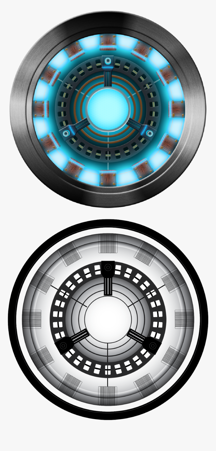 Iron Man Arc Reactor Image-01 - Proof That Ironman Has A Heart, HD Png Download, Free Download
