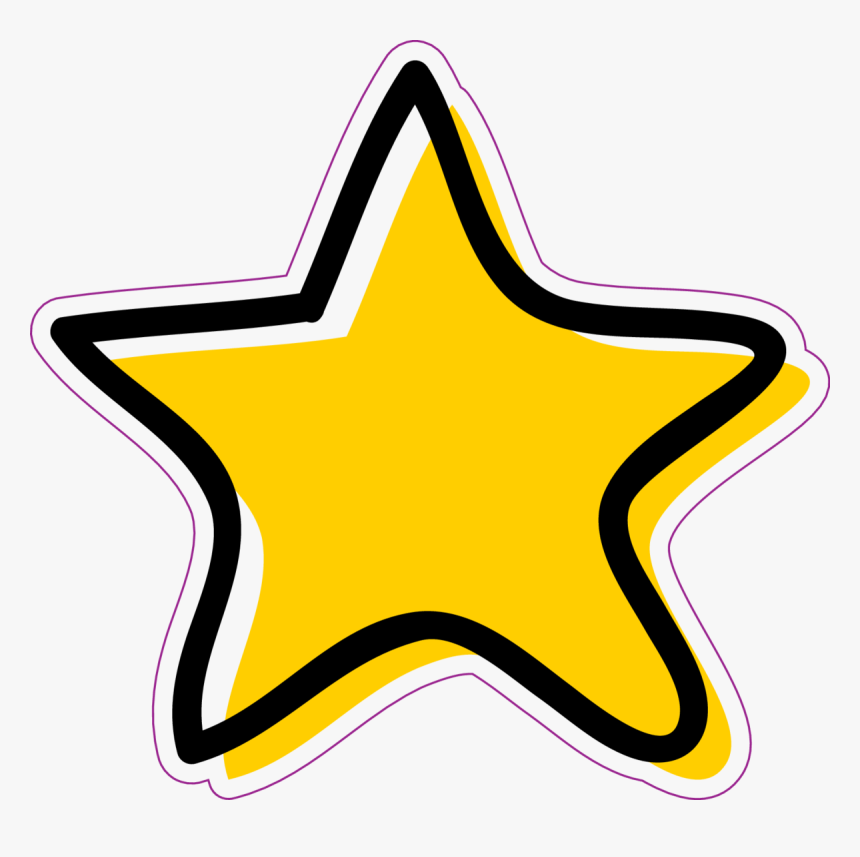 Crossed Band Aid Bandage Sticker - Aesthetic Yellow Star Stickers, HD Png Download, Free Download