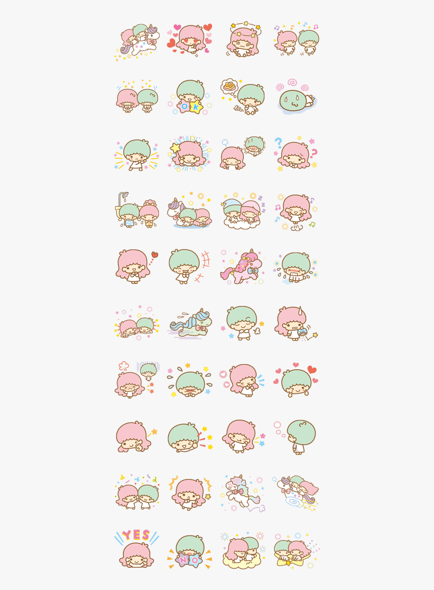 Little Twin Stars Line Sticker, HD Png Download, Free Download