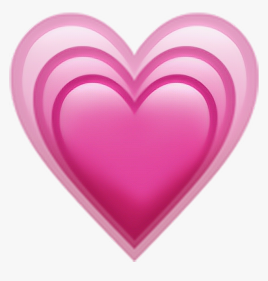 Transparent Heart Emoticon Png - Iphone Heart Emoji Png, Png Download, Free Download