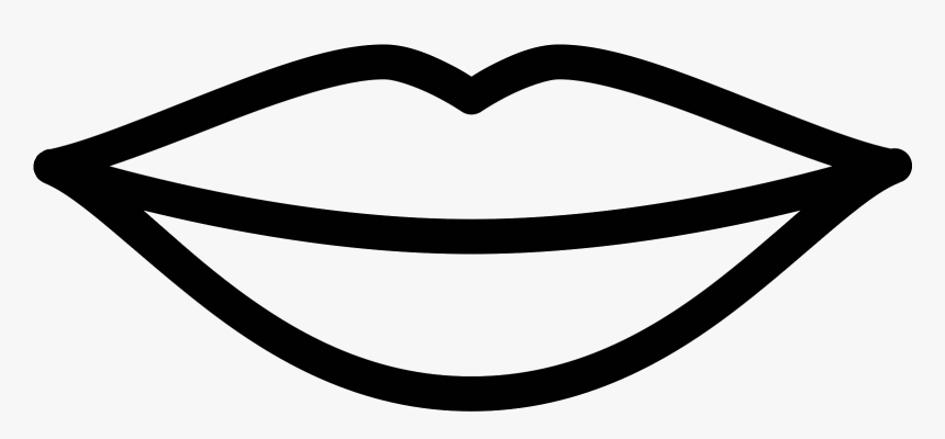 Lip Clipart Black And White - Lips Outline, HD Png ...