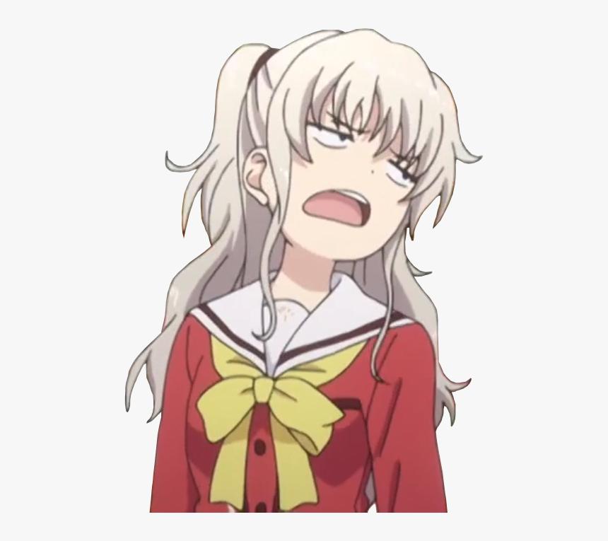 Charlotte Anime Meme Face, HD Png Download - kindpng