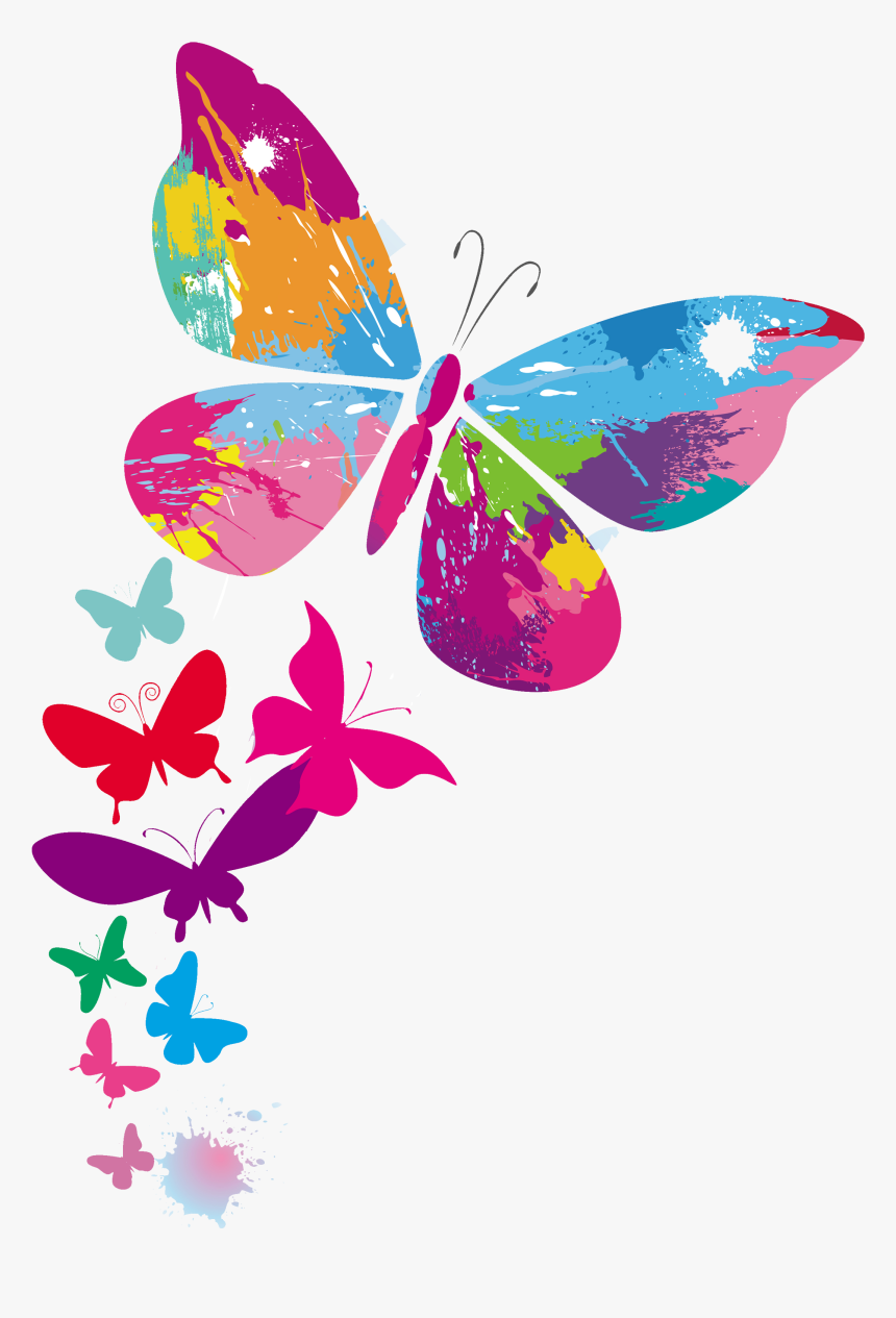 Transparent Mariposas Vector Png - Clip Art Colorful Butterfly, Png Download, Free Download