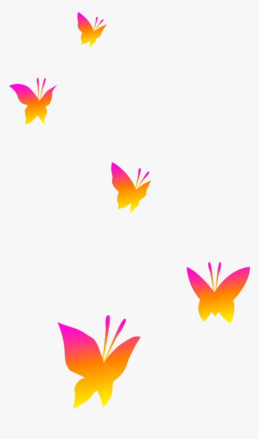 Butterfly Clip Art - Cartoon Butterflies No Background, HD Png Download, Free Download