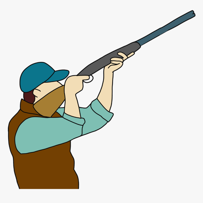 Skeet-shooting - Hunter And Animals Cartoon, HD Png Download, Free Download