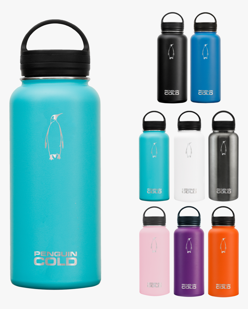25oz Penguin Cold Insulated Stainless Steel Bottles - Water Bottle, HD Png Download, Free Download