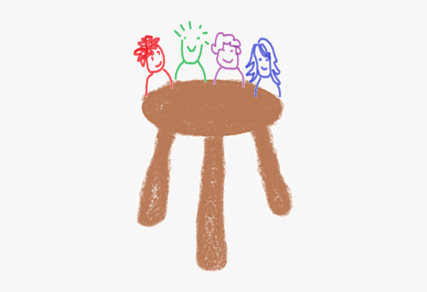 The Three Legged Stool Of Facilitation - Child Art, HD Png Download, Free Download