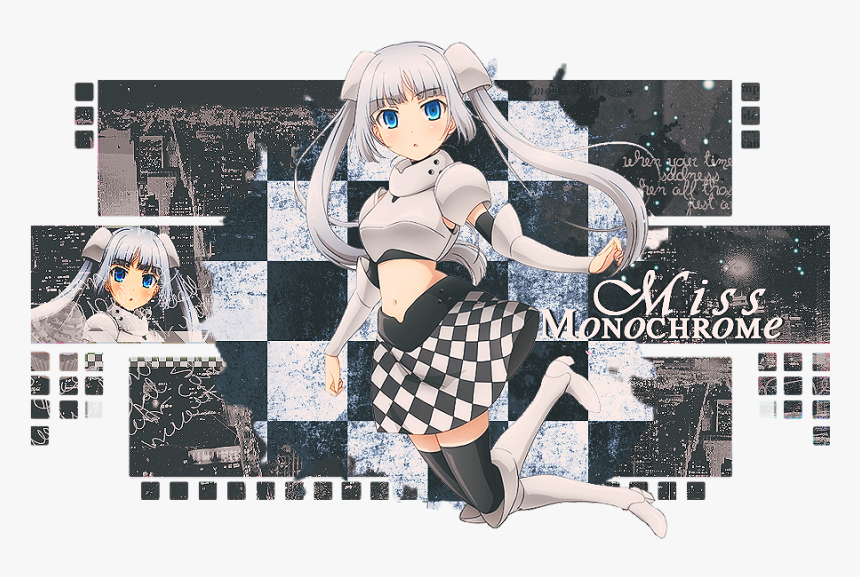 Transparent Miss Monochrome Png - Anime, Png Download, Free Download