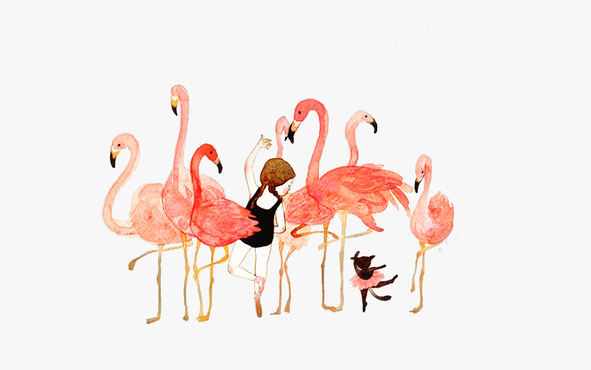 Water Color Flamingo Transparent Background, HD Png Download, Free Download