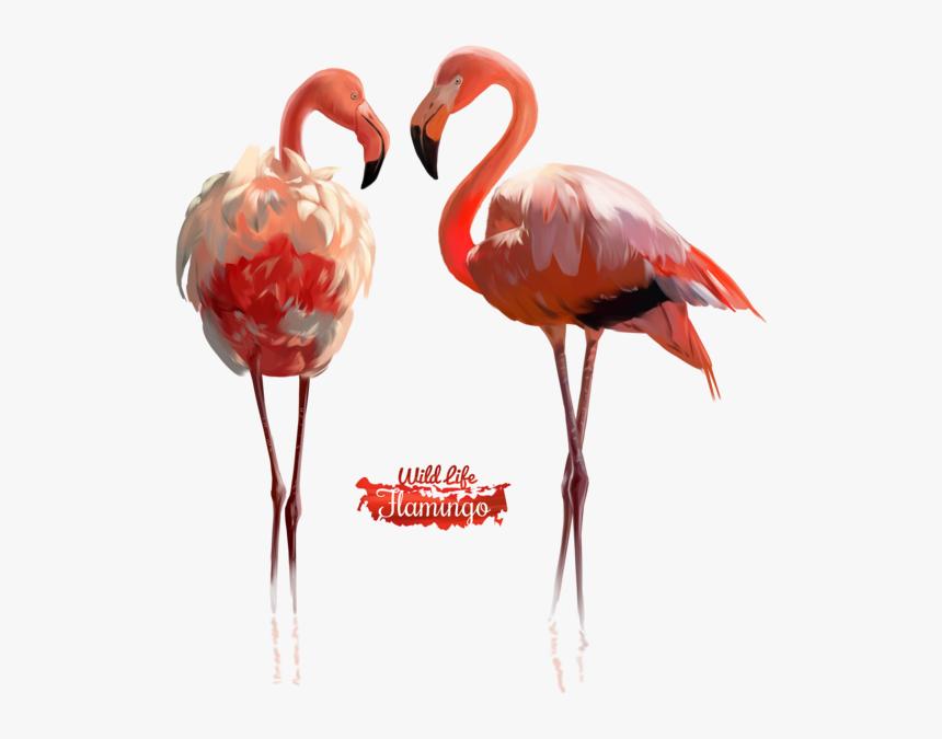 Pink Flamingo Watercolor Illustration By Kajenna - Flamingo Black Watercolor Free, HD Png Download, Free Download